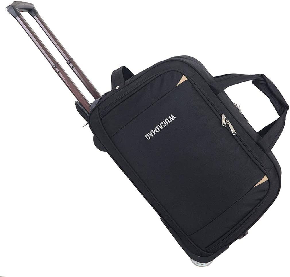 Leisure Travel Bag Comfortable Handmade Workmanship Mesurn Oxford Brass Bag Wear-Resistant Crystal Wheel Bottom Wear-Resistant Feet
