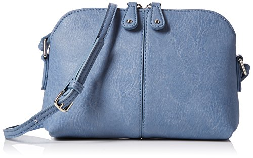 Dorothy Perkins Denim Pouch - Borse a tracolla Donna, Blue, 21x15x6 cm (W x H L)