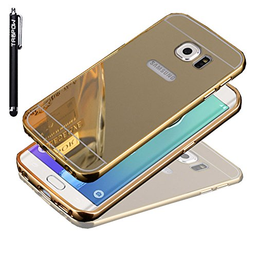 S6 Edge Plus Case, Galaxy S6 Edge Plus Case, TabPow [Electroplating Series] Luxury Slim Hard Back Case Cover Bumper [Mirror Case] For Samsung Galaxy S6 Edge+ Plus, Champagne Gold