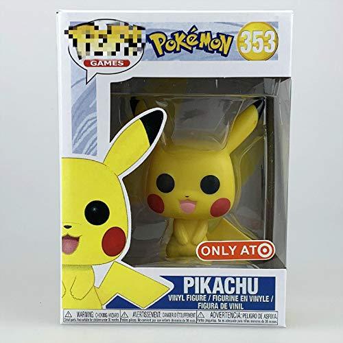 BFAQ 1Pcs Funko Pop Pokemon 10cm Pikachu 353 # El Juguete Coleccionable para ninos, Multic
