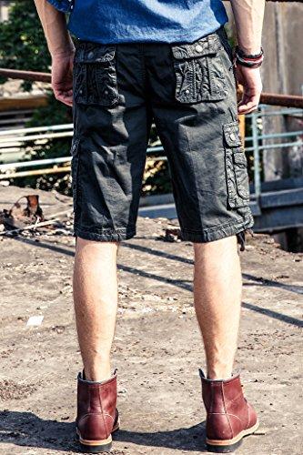 Casual 5 Elegir Bolsillos Carbón Colores Harrms Bermudas Hombre Para De Cargo Pantalón Múltiples Corto xq4v678wT