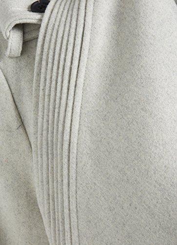 Khujo Manga Larga para Mujer Abrigo Básico Weiß AfEqfr