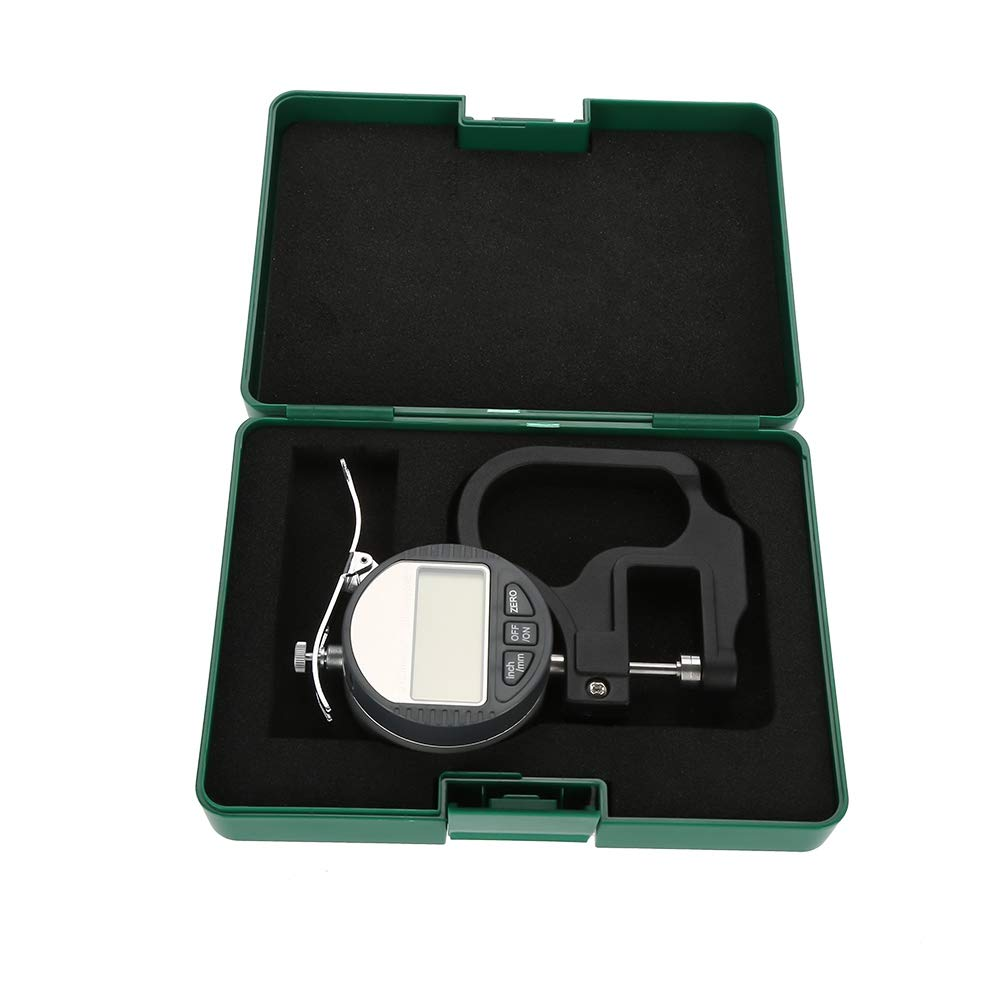 Digital Thickness Gauge Thickness Caliper Electronic Micrometer Thickness Meter 0-12.7mm Inch Metric with Precise Measurement Tool with LCD Display