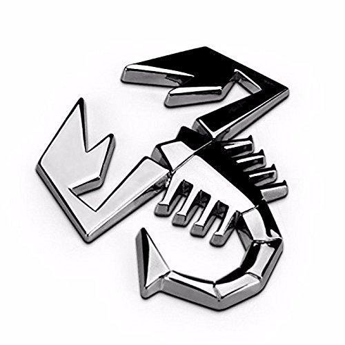 RUI Emblem Badge Logo Personalized Car Truck Sticker Silver for Fiat 500, 124 Spider Rear Trunk or Fender/Side Doors