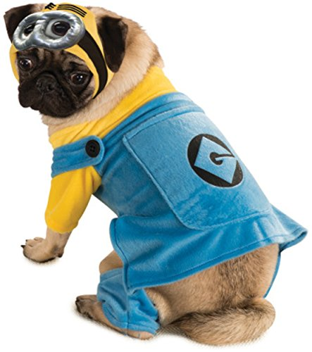[Despicable Me Minion Pet Costume, Medium] (Pugs Costumes)