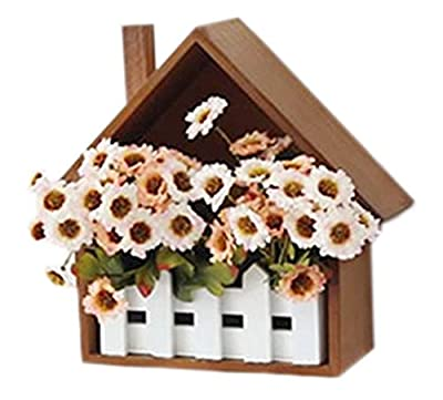 Creative Wooden Fence Decorative Flower Box Wall Hangings Shelves (2524cm)