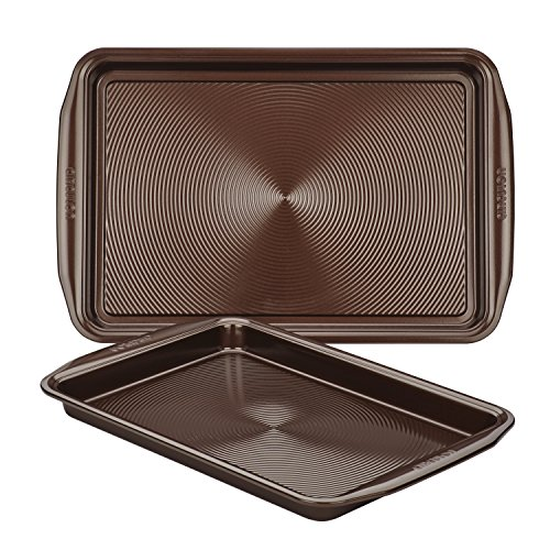 Circulon 47107 Nonstick Bakeware Set with Nonstick Cookie Sheets / Baking Sheets - 2 Piece, Chocolate Brown