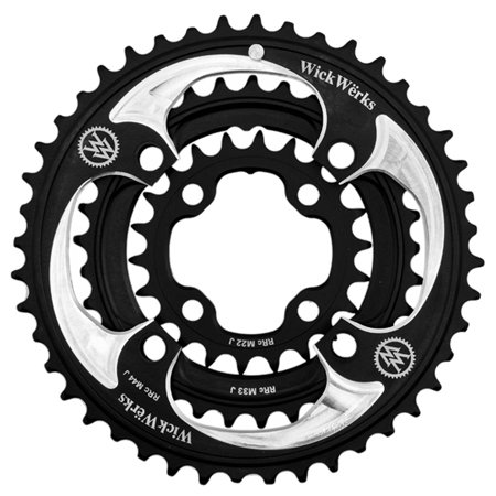 WickWerks 44/33/22t 104/64 BCD Mountain Triple Chainrings by WickWerks