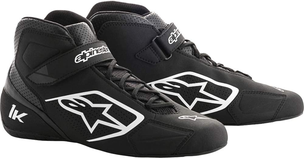 Black//White 12.5 Alpinestars Mens Tech 1-K Karting Shoe