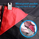 Youv Outdoor Beach Blanket - Sand Free Pocket Blanket for 4-6 people, Fordable Light Weight Waterproof Picnic Mat with 4 hooks for Travel, Hiking, Sports, Camping.