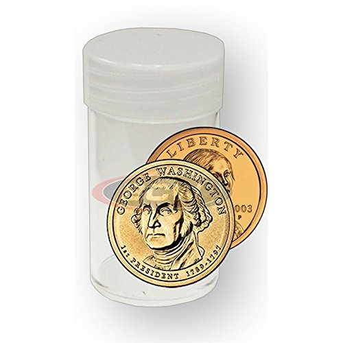 ((20) BCW Brand Round Clear Plastic (Small Dollars) Size Coin Storage Tube Holders with Screw on Lid)
