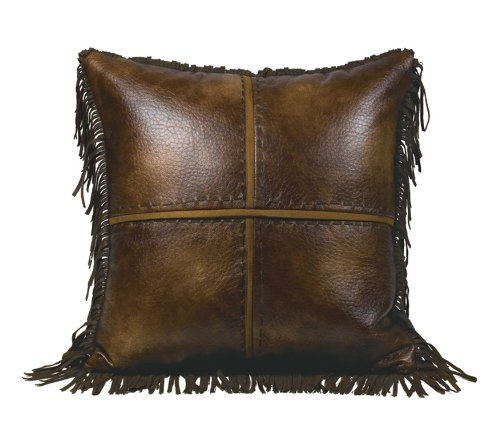 Leather Accent Pillow (HiEnd Accents Faux Leather Western Accent Pillow)