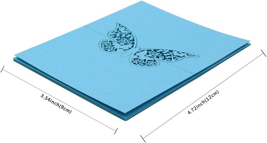 Rouge BIT.FLY 100 Pi/èces Cartons de Placement Cartes de Noms de Table Forme de Papillon Ajour/é pour D/écoration de F/ête de Mariage