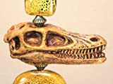 Large Velociraptor Dinosaur Bone / Skull and Glass Light or Ceiling Fan Pull, Appliances for Home