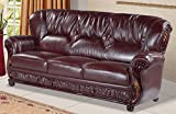 Meridian Furniture Mina Sofa, Burgundy