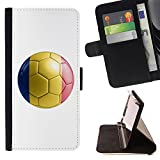 STPlus Romania Romanian Soccer Football Ball Flag Wallet Card Holder Cover Case for Apple iPhone 7