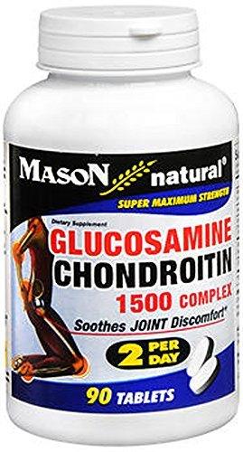 - GQ137890 - Glucosamine Chondroitin Super Maxium Strength 1500/2000 2/Day Tabs, 90 Count by Mason Vitamins