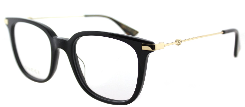 Eyeglasses Gucci GG 0110 O- 001 BLACK / GOLD