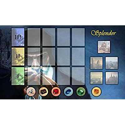 Splendor Gaming Board Game Playmat 24 x 14 inch: Toys & Games