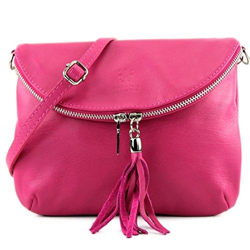modamoda de - Made in Italy - Bolso cruzados para mujer Rosa