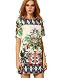 ROMWE Women's Floral Casual Mini Dress