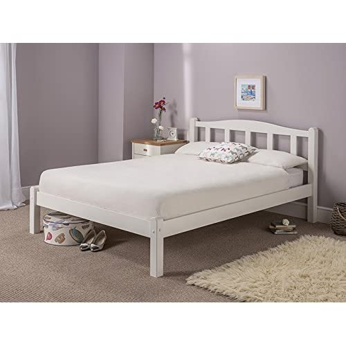 snuggle beds amberley white 5ft kingsize wooden bed - King Size Wood Bed Frame