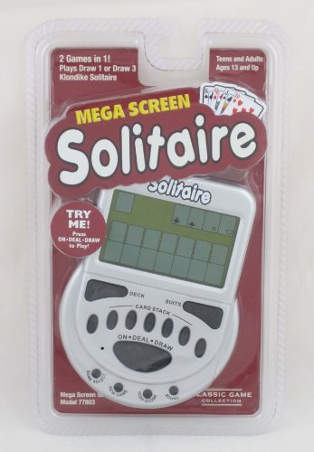 MegaScreen Solitaire Handheld Game by Worldwise Imports