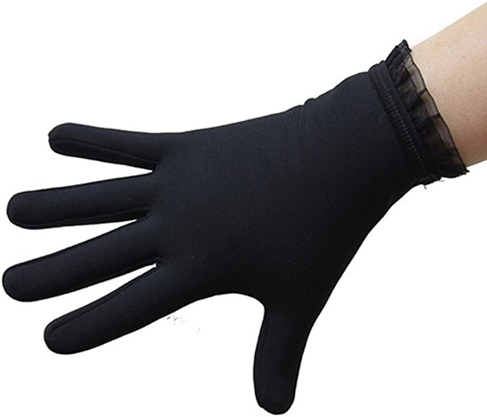 IceDress Thermal Figure Skating Gloves with Flounce: Clothing