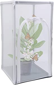 """RESTCLOUD 30"""" Large Monarch Butterfly Habitat Cage, Outdoor Insect Mesh Cage Terrarium 16.5"""" x 16.5"""" x 30"""" Butterfly Encloser"""