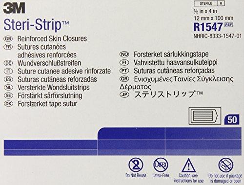 Skin Closure - 3M Steri-Strip Adhesive Skin Closures (Reinforced) R1547 (Pack of 50)