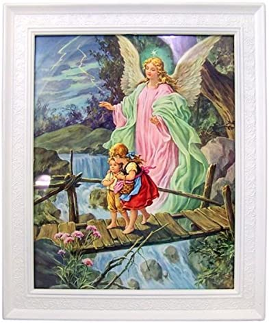 home, kitchen, wall art,  posters, prints 9 on sale Gerffert Children with Guardian Angel Print in 11 in USA