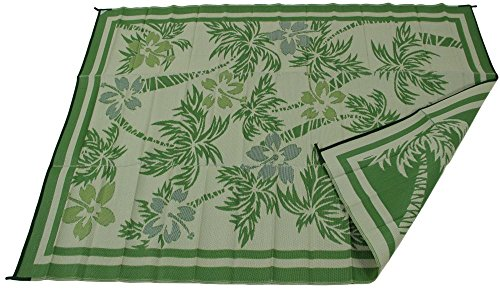RV Patio Mat Camping Rug Paradise Palm Tree