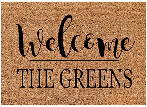 Welcome Customized Family Name Non Slip Doormat – Personalized Housewarming Closing Gift – Home Decor Custom Door Mat Rug
