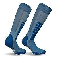 Eurosocks Supreme Ski Socks, Turquoise, Large