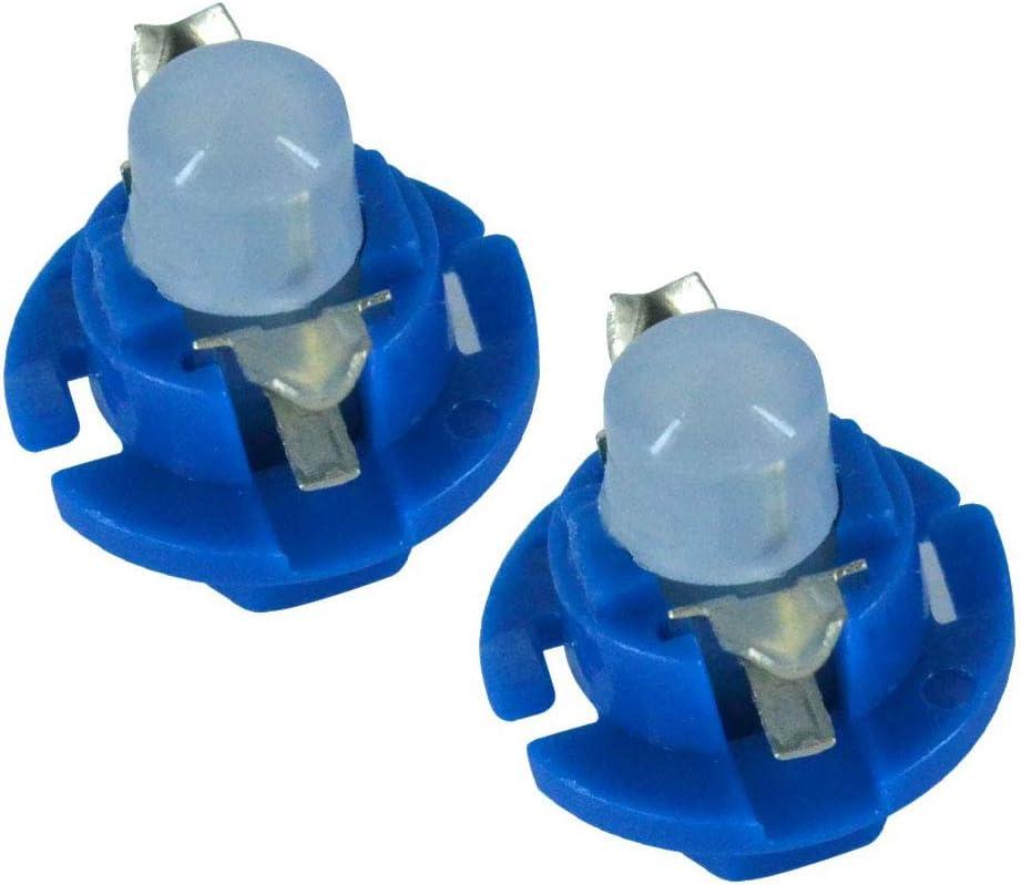 TABEN B8.4D LED Bulb COB-1SMD 12V Car Dashboard Instrument Reading Panel Light Indicator Light Blubs Blue Pack of 10