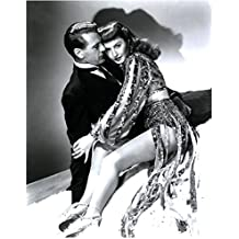 Barbara Stanwyck 8 Inch x10 Inch Photo Double Indemnity The Big Valley The Lady Eve B&W in Glittering Outfit w/Gary Cooper in Tux Pose 4 kn