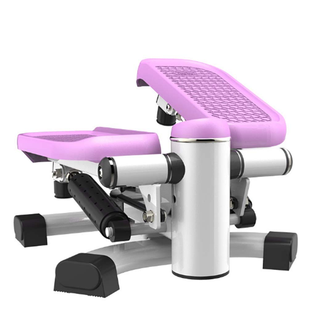 Tabuji Swing Stepper, Mini Multi-Function Fitness Stepper Durable Safe Treadmill with Comfortable Foot Pedals (Purple)