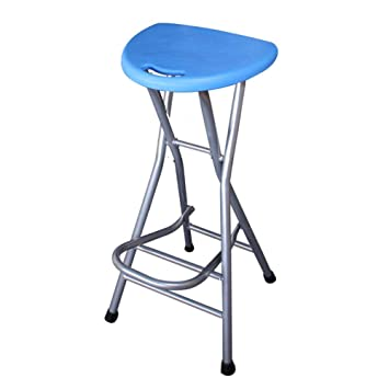 Stupendous Bexn Folding Barstools 28 Inch High Stool Without Backs Plastic Pub Chair Counter Bar Stool Chair For Bar Home Blue H72Xw31Cm 28X12Inch Ibusinesslaw Wood Chair Design Ideas Ibusinesslaworg