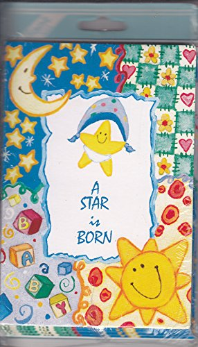 "Baby Boy or Girl Birth Announcement Cards - ""A Star is Born"" - Sun, Moon, Star, Blocks"