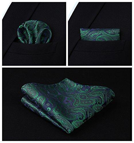 Vert amp; Jacquard Gilet Poche Hommes Violet Paisley Et Classique Hisdern Ensemble Cravate Floral Carré nYFaw7nq