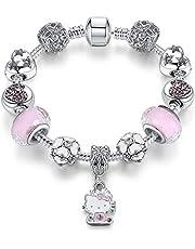 MIADEAL Hello Kitty Charms Bracelet, Pandora Compatible MIA01