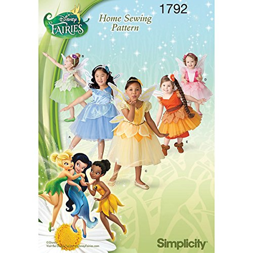 Simplicity 1792: Toddlers' and Child's Disney Fairies Costume Sewing Pattern, Size BB (Fairy Pattern)