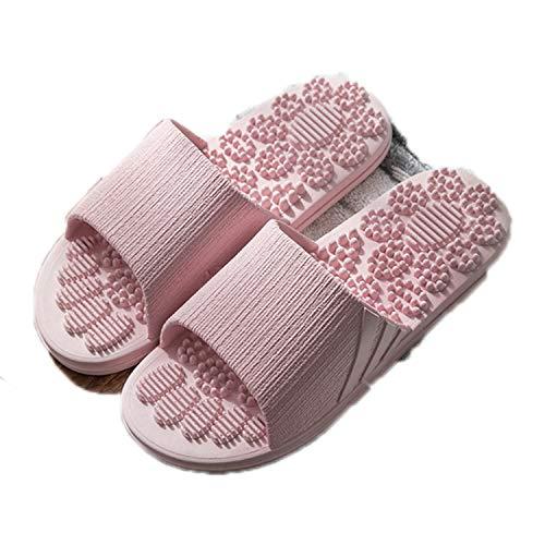 Non Slip Women Massage Slippers Summer Indoor Outdoor Flip Flops Shoes Beach Bathroom Slipper Men Slide Pink 6 (Best Massage In Riyadh)