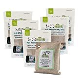 Automotive : MOSO NATURAL Air Purifying Bag 5 Pack. Bamboo Charcoal Air Freshener, Deodorizer, Odor Eliminator, Odor Absorber for Cars and Closets. 200g Natural Color
