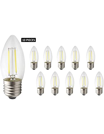 JCKing 10-Pack AC 220V E27 2W LED de filamento regulable Bombilla de luz vintage