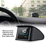 Heads Up Display for Cars, iKiKin OBD2 Heads Up Display with TFT LCD Display Shows Speed RPM Voltage Detection for Error Code Muti-Function Car HUD with EUOBD OBD 2 Interface P10