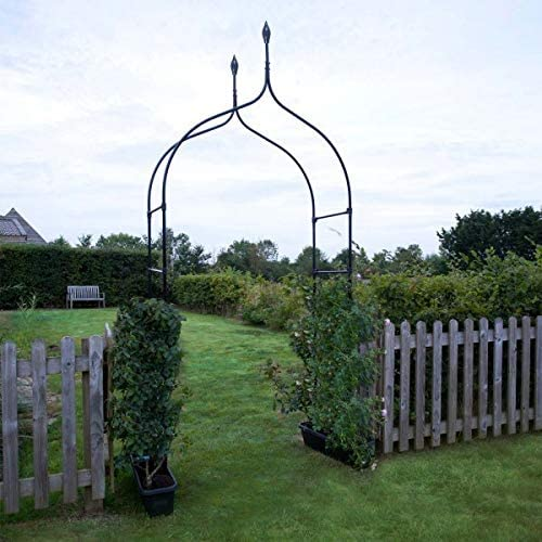garden Mile Grande 2, 4M Decorativo Negro De Metal Jardín Arco Con ...