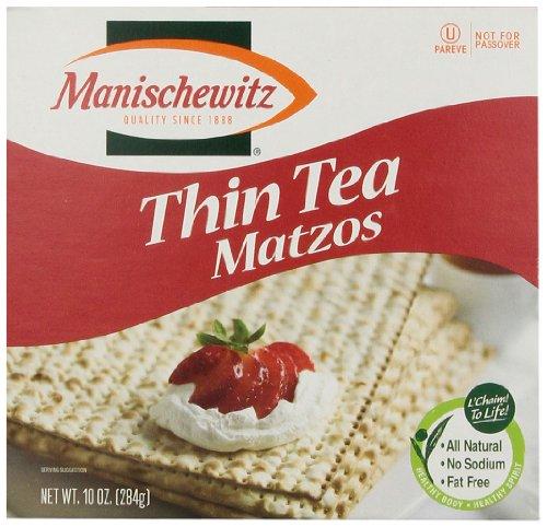 MANISCHEWITZ Thin Tea Matzo, 10-Ounce Boxes (Pack of (Matzo Thins)