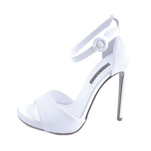 Scarpe Sposa Albano Prezzi.Albano Sandali Donna Sposa In Raso Bianco Aperte In Punta E