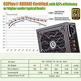 ARESGAME 750W Power Supply Semi Modular 80+ Bronze